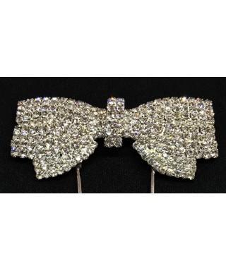 Grand Noeud Papillon en Diamant et Cristal pour gâteaux