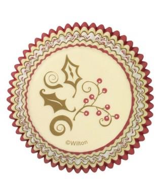 Caissettes à cupcakes décoration de noël pk/75 Wilton