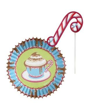 Décoration cupcakes tasse de chocolat chaud pk/24 Wilton