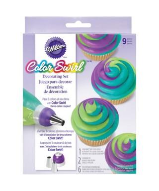 ColorSwirl Tri-Color Coupleur de décoration Set/9