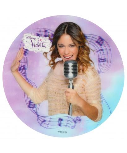 Disque Violetta au micro Effet 3D Disney