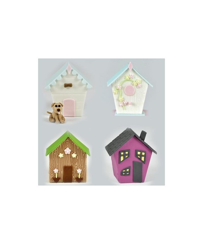 emporte pi ce petite maison set 4 fmm sugarcraft. Black Bedroom Furniture Sets. Home Design Ideas