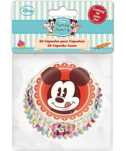 Caissettes à Cupcake Mickey set/60 Disney