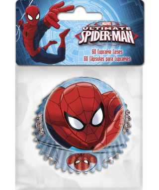 Caissettes à Cupcake Spiderman set/60 Marvel