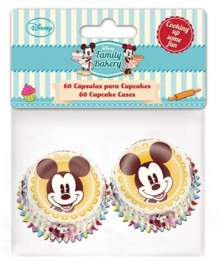 Mini Caissettes à Cupcake Mickey set/60 Disney