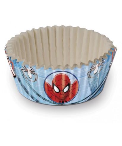 Mini Caissettes à Cupcake Spiderman set/60 Marvel