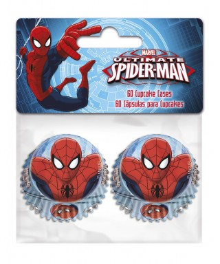 Mini Caissettes à Cupcake Spiderman set/60 Marvel