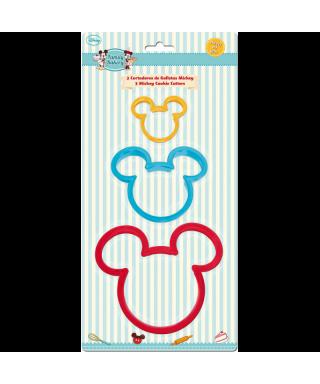 Emporte-pièce tête de Mickey set/3 Disney