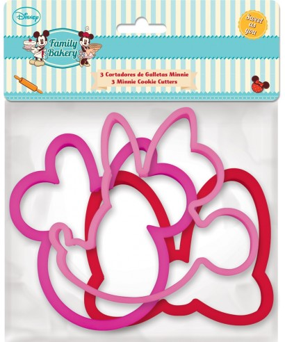 Emporte-pièce tête de Minnie et son Noeud set/3 Disney