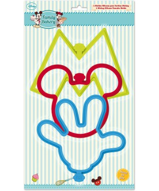 Très grand Emporte-pièce en silicone Mickey set/3 Disney