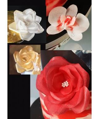 Atelier Sugar Paris Rose et une Orchidée en Wafer Paper par Laetitia Kessous