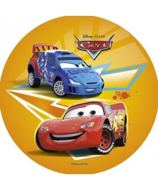 Disque Azyme Cars Flash McQueen et Raoul ÇaRoule Disney