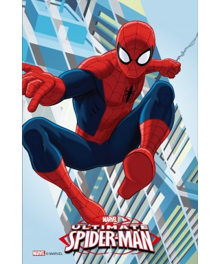 Rectangle en azyme Spiderman entre les bulding Ultimate Marvel