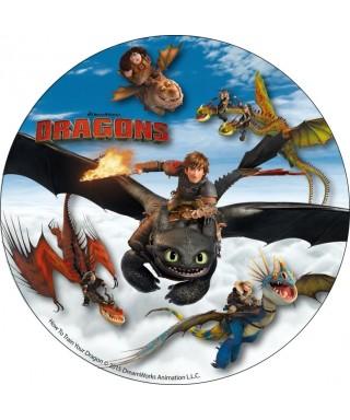 Disque azyme Harold et Krokmou et tout leurs amis Dragons