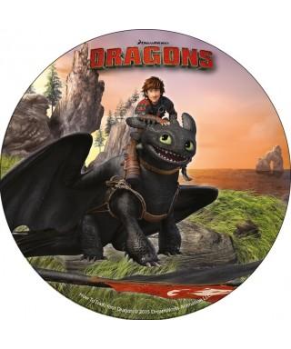 Disque azyme Harold et Krokmou Dragons