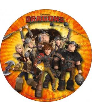 Disque azyme Harold et ses amis Dragons