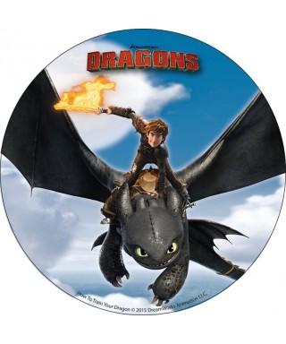 Disque azyme Harold et krokmou dans les airs Dragons