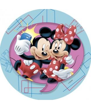 Disque azyme Mickey et Minnie font un Selfie Disney