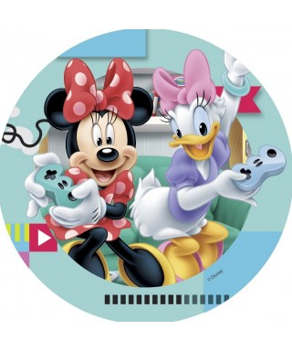 Disque azyme Daisy et Minnie joue à la console Disney