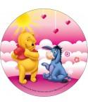 Disque pâte à sucre Winnie et Bourriquet Disney