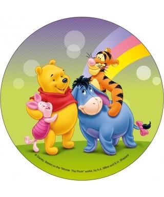 Disque pâte à sucre Winnie Winnie, Porcinet, Tigrou et Bourriquet Disney