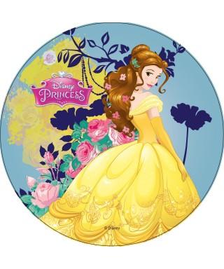 Disque pâte à Sucre Belle Princesses Disney