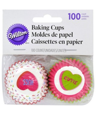 Mini Caissettes sweet love St Valentin pk/100 Wilton