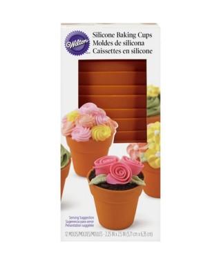 Moule silicone de cuisson pour cupcake pot de fleur Wilton