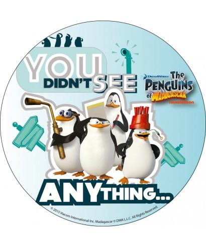 Disque en azyme Les Pingouins de Madagascar partent en vacances