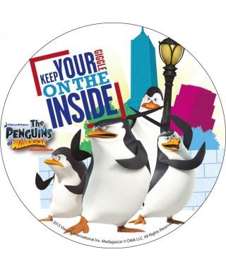 Disque en azyme Les Pingouins de Madagascar s'amusent