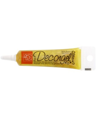 Stylo gel Jaune paillette 20g Modecor