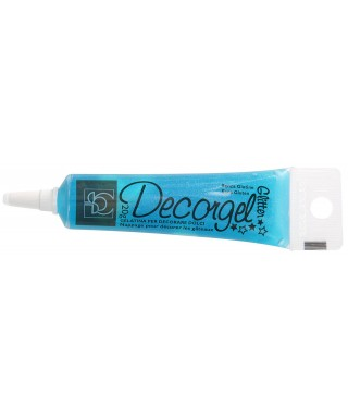 Stylo gel Bleu paillette 20g Modecor