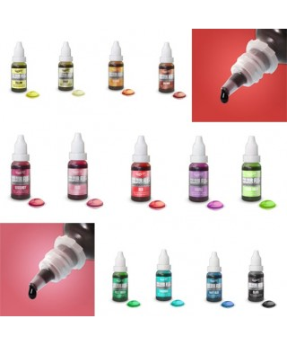 Pack de 13 Colour Flo colorant aérographe Rainbow Dust