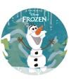 Disque azyme Olaf Reine des Neiges Disney