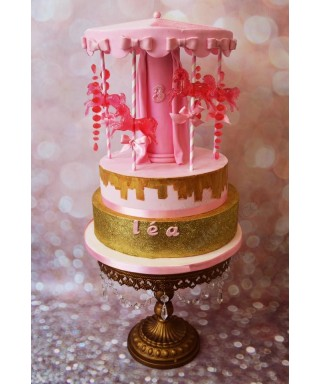 Moule Silicone Cheval de carrousel pour gâteau en pates à sucre