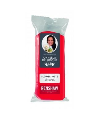 Pâte à fleur ornella de Simone Rouge 100g Renshaw