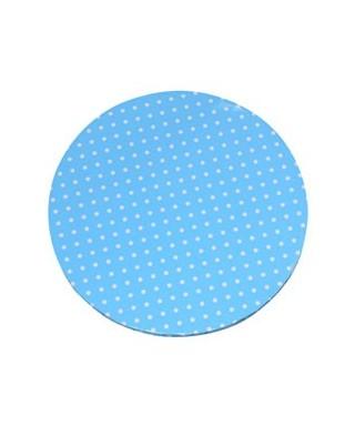 Plateau de présentation rond épais bleu à pois blanc Ø 40 cm