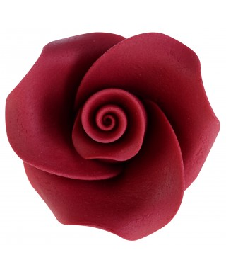 Rose rouge en sucre set/6