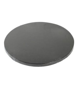 Plateau de présentation rond épais Ø 25 cm Noir
