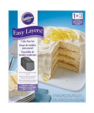 Moule pour Nude Cake Carré 15cm Set/4 Wilton