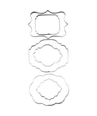 Emporte-pièce métal plaques set/6 Wilton