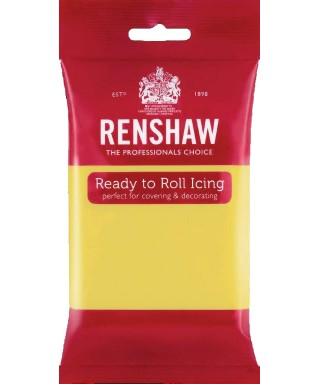 Pâte à sucre Jaune Pastel 250g Renshaw