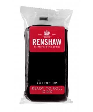 Pâte à sucre Noir 500 g Renshaw Régalice