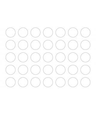 Feuilles en pâte à Sucre rond prédécoupé Ø 3 cm x 25
