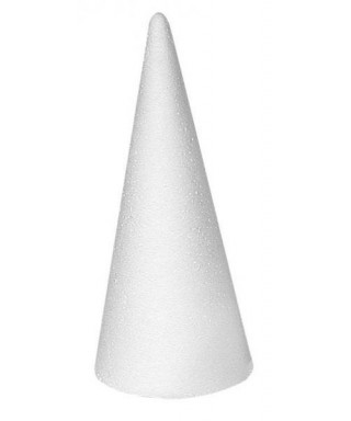 Cône en polystyrène 12 x 7 cm