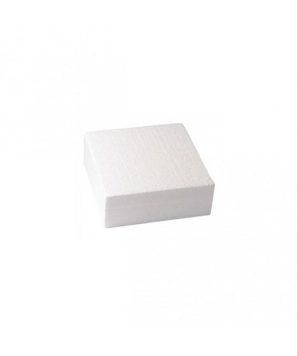 Dummy carré 10cm de haut 20 x 20 cm support polystyrène