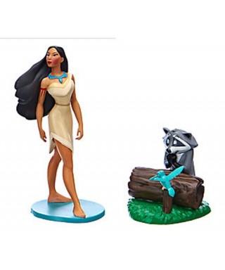 Figurine Pocahontas, Meeko et Flit édition limité