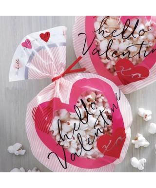 Sachets à friandises Coeur St valentin pk/15 Wilton