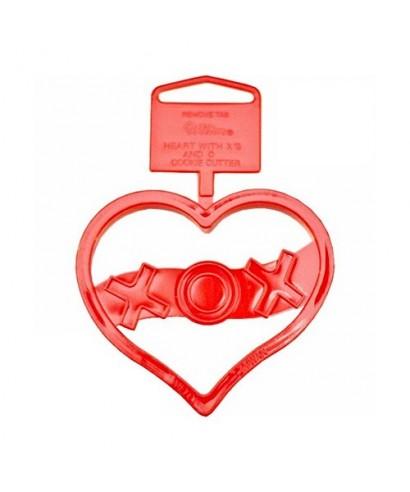 emporte pi ce coeur xox wilton pour saint valentin a 1 50. Black Bedroom Furniture Sets. Home Design Ideas