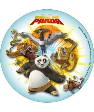 Disque Azyme kung Fu Panda Po avec Shifu et ses amis